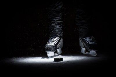 Cuadro Jugador de hockey. Legs only ver