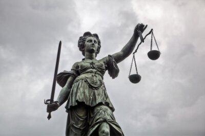 Cuadro Justitia Estatua en Fráncfort del Meno