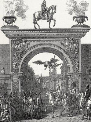 Cuadro Kaiser Franz I. zieht en Wien ein im Juni 1814, Kupferstichvorlage
