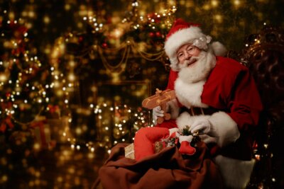 kind santa with gifts