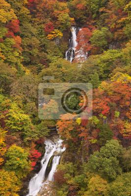 Kirifuri baja cerca de Nikko, Japón en otoño