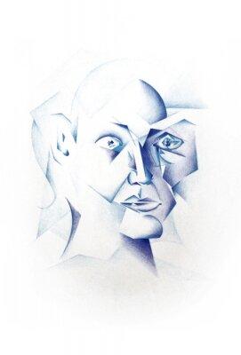Cuadro Kubistisches Gesicht