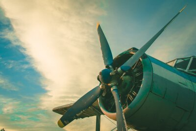 Cuadro La cabina del avión viejo. Aviones abandonados