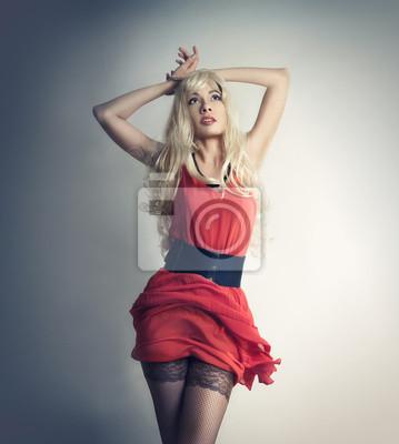 La Chica Del Vestido Rojo Pinturas Para La Pared Cuadros