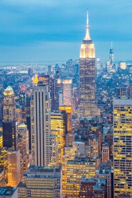 Cuadro La ciudad de Nueva York skyline atardecer EE.UU.