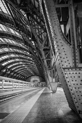 Cuadro La estación central de Milán - binario