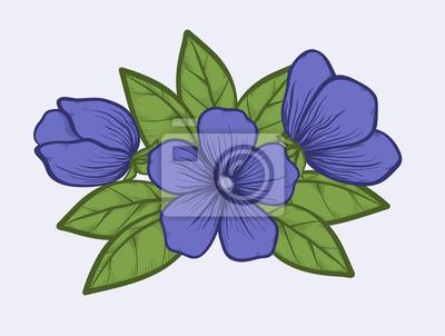 La Floración De árboles En Colores Pastel Estilo De Dibujo Gráfico