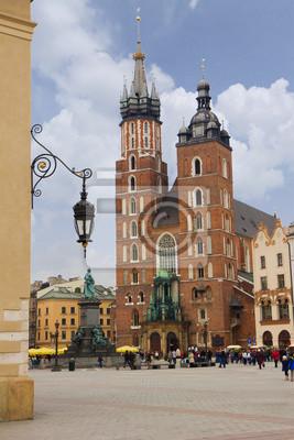 La iglesia de Santa María en Cracovia, Polonia