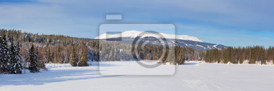 La montaña de Trysil en Noruega en invierno