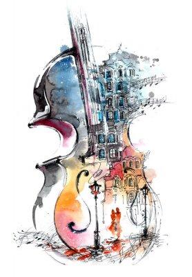 Cuadro la música y la ciudad
