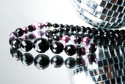 Cuadro La perla con la bola de discoteca en el espejo