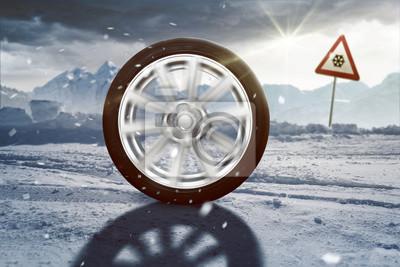 Cuadro La rodadura del neumático del invierno