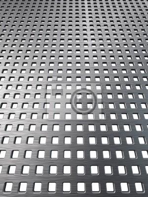 La textura de malla de la parrilla de metal pulido. Fondo de hierro Resumen