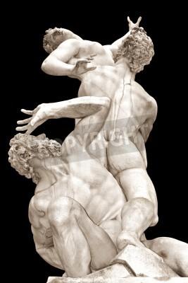 Cuadro La Violación de las mujeres Sabine por Giambologna Loggia en Piazza della Signoria, Florencia, Italia