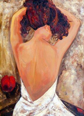 Cuadro Lado opuesto de una (pintura al óleo) Belleza