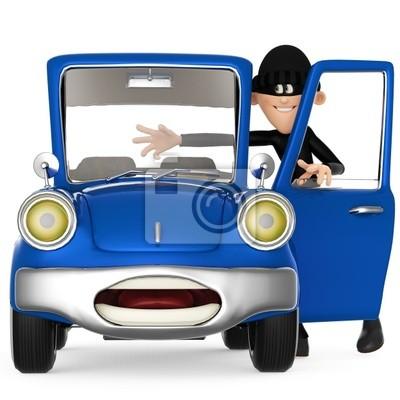 Resultado de imagen de ladron robando coche