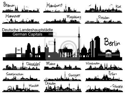 Landeshauptstädte Skylines deutscher