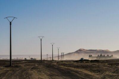 landscape in desert, photo as background