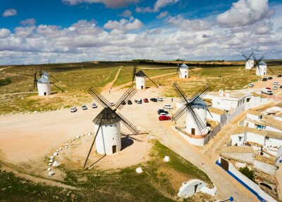 Landscape of Campo de Criptana with windmills