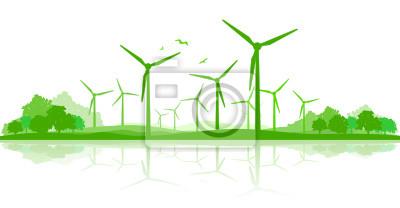 Landschaft Silueta Windpark