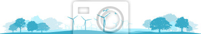 Landschaft Windenergie