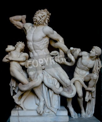 Cuadro Laocoon and his sons, famous classical greek statue