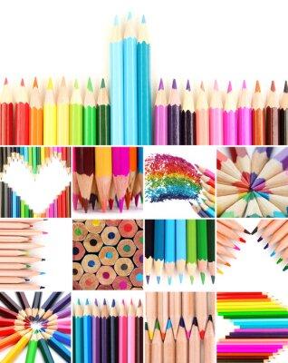 Cuadro Lápices de color collage