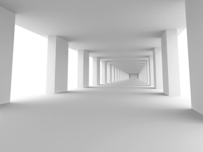 Cuadro largo pasillo