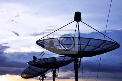 c9a6ae0b5d842 Las antenas parabólicas pinturas para la pared • cuadros antena ...