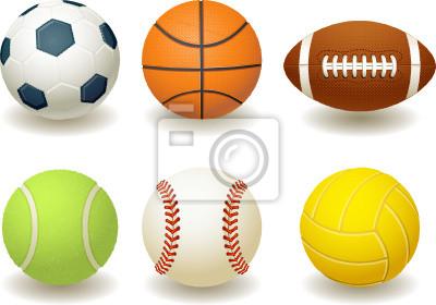 Las pelotas para deportes de equipo pinturas para la pared • cuadros ... 5811907c797b0