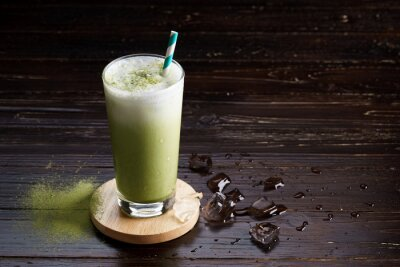 Cuadro Latte helado del té verde.