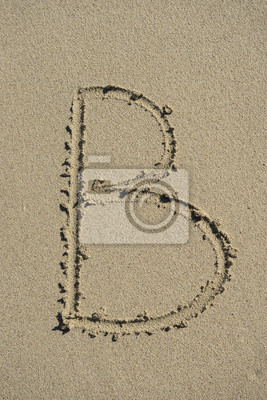 letra B arena alfabeto
