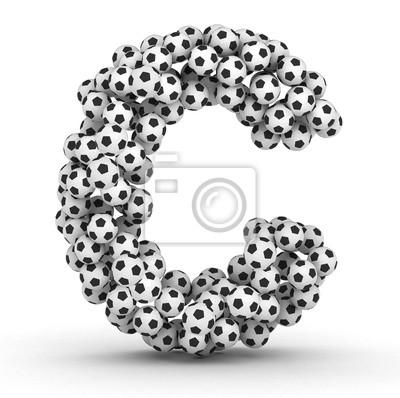 Letra c de pelotas de fútbol soccer pinturas para la pared • cuadros ... 0a2f500f9036b