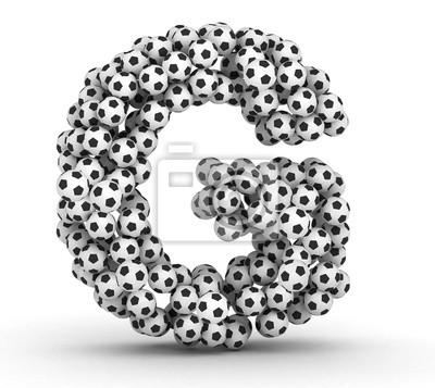 Letra g de pelotas de fútbol soccer pinturas para la pared • cuadros ... 531c865d4609b