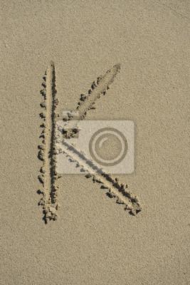 letra K alfabeto arena