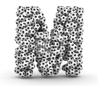 Letra m de pelotas de fútbol soccer pinturas para la pared • cuadros ... b155e2d5372a1