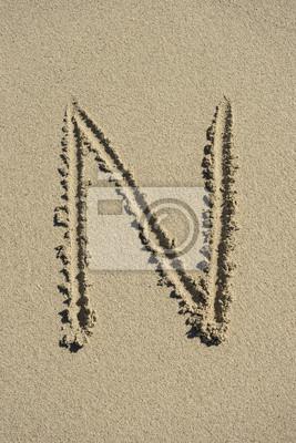 letra N arena alfabeto