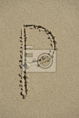 letra P arena alfabeto