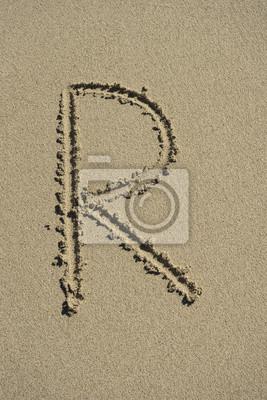 letra R arena alfabeto