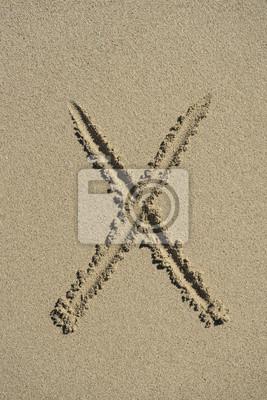 letra X arena alfabeto
