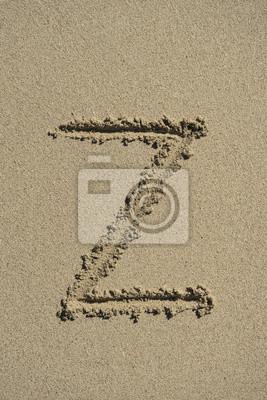 letra Z arena alfabeto