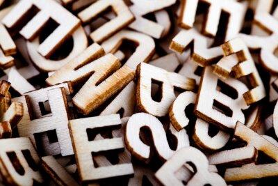 Cuadro Letras de madera Jumbled cerca