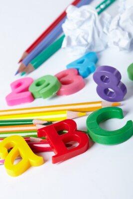 Cuadro Letras del alfabeto plástico
