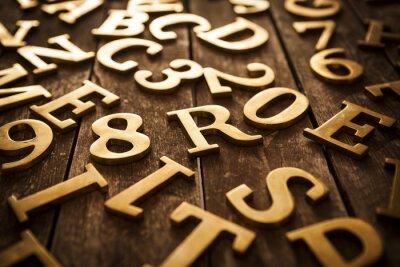 Cuadro Letras doradas
