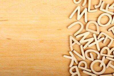 Cuadro Letras y numeros