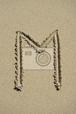 letter M sand alphabet
