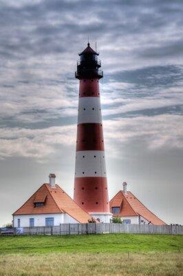 Cuadro Leuchtturm Westerheversand en Westerhever