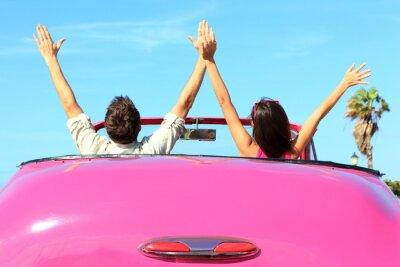Cuadro Libertad - feliz pareja gratis en coche
