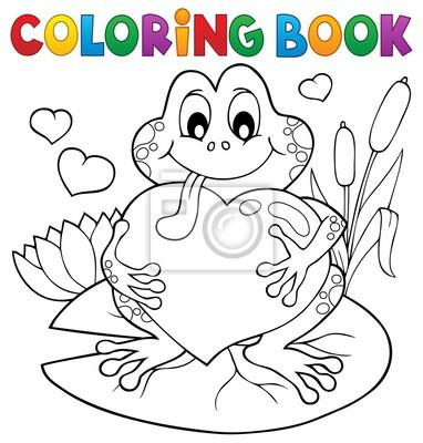 Libro de colorear san valentín rana pinturas para la pared • cuadros ...