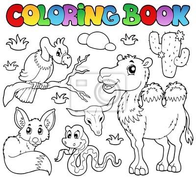 Libro para colorear animales del desierto 1 pinturas para la pared ...